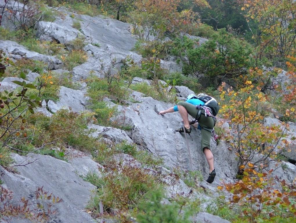 Dalle du Latay : jonction vers la dalle du Tuet, un pas dans L3