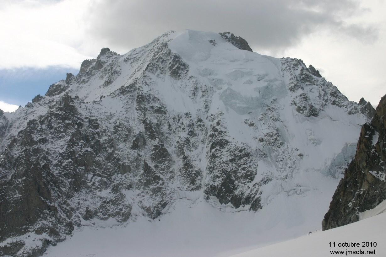 La face nord d'argentière dans un état pitoyable