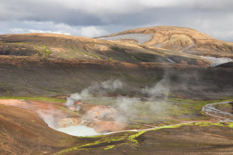 Zone géothermique au Landmanalaugar, Islande