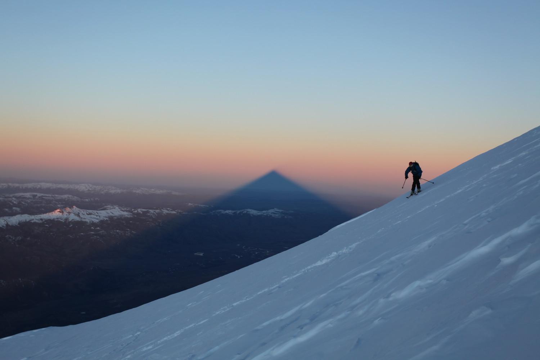 ski sur le volcan lanin, argentine