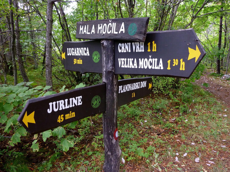 Panneaux d'orientation croates