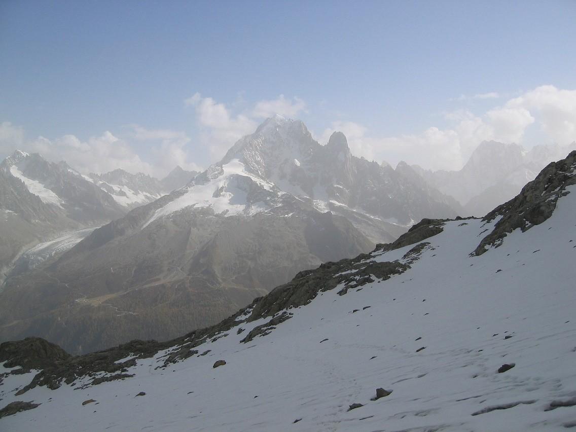 la Verte - les Drus - vue depuis sommet aig. belvedere (2965m)