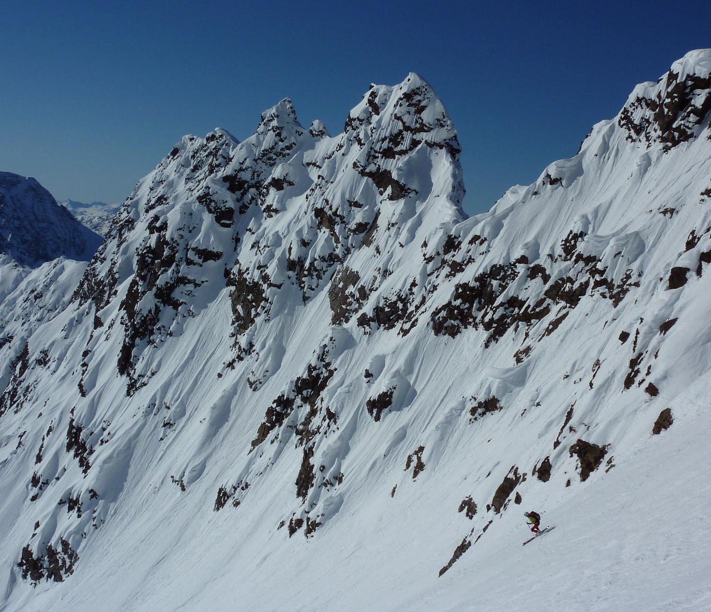 Istinden : descente sous le sommet