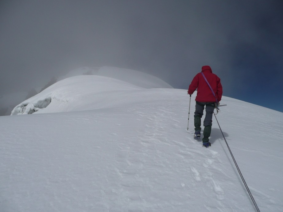 Arrivée au sommet du Thorong Peak