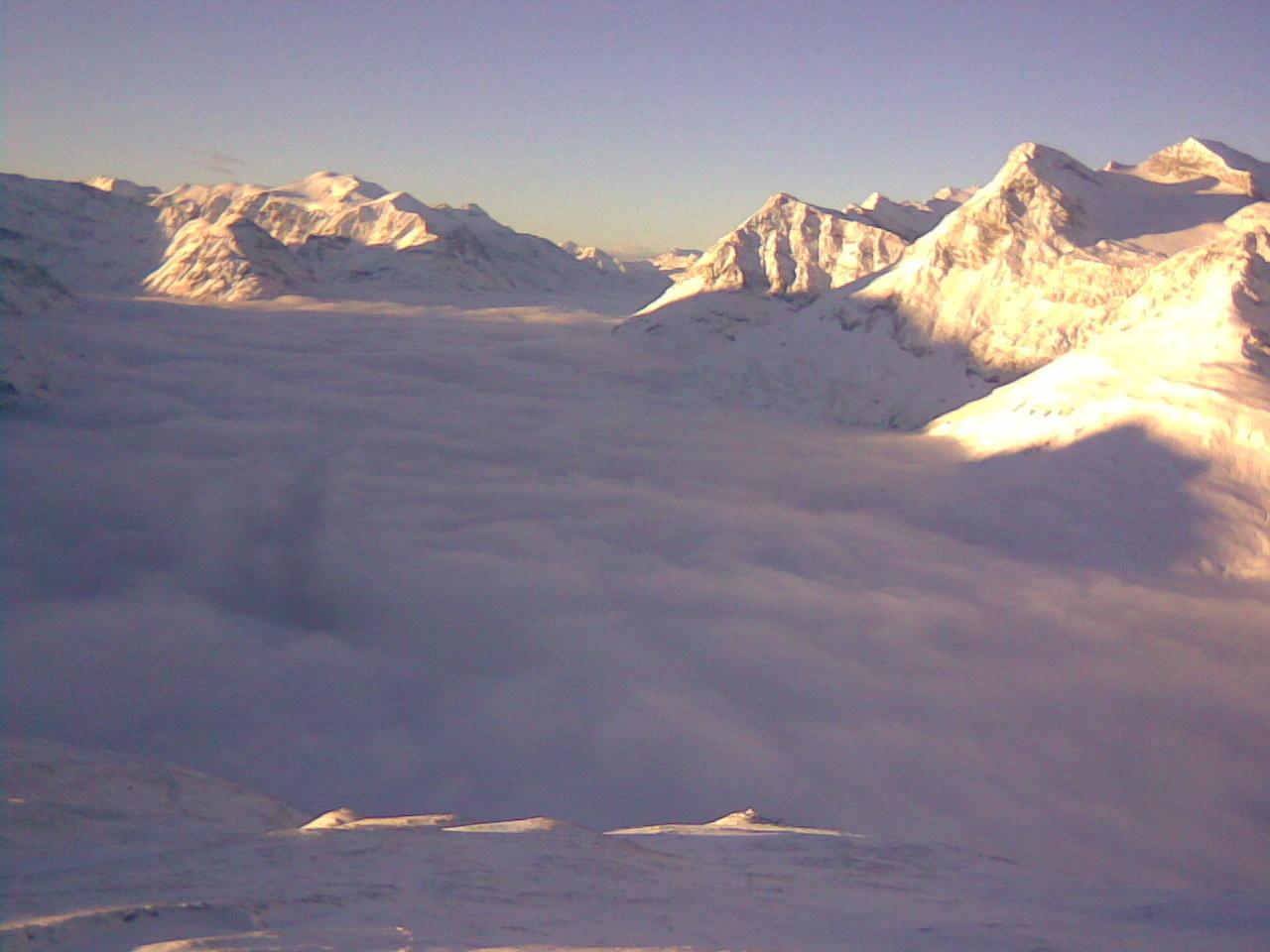 Mer de nuages sur la haute Maurienne