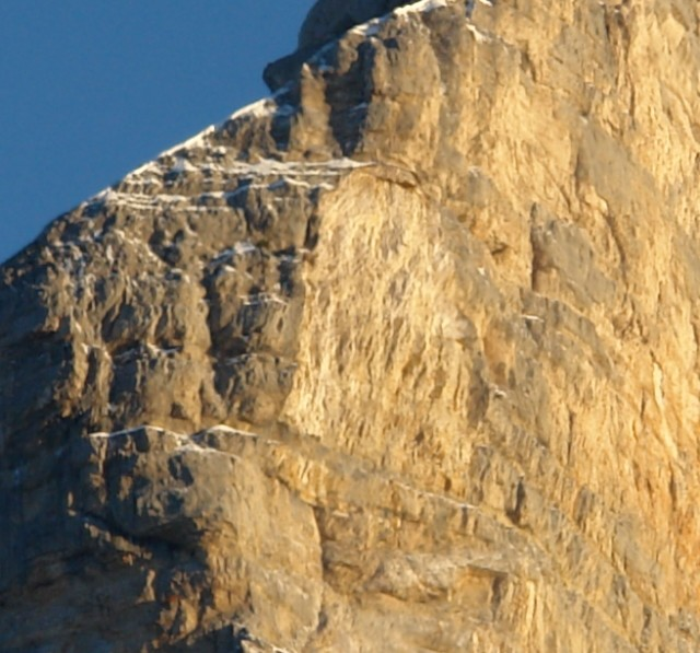 Dent de Crolles - zone éboulée le 23/10/2010 - Zoom
