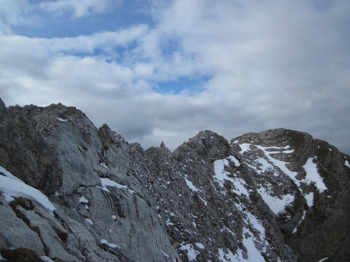 arête finale pour rejoindre le sommet