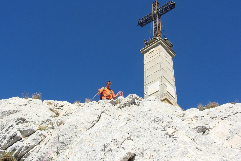 Derniers mètres avant le croix