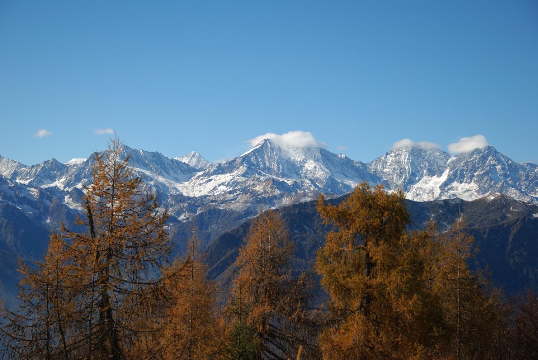 Versant e du Mont Rose depuis La Sella (Ossola)