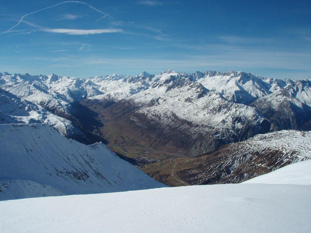 Andermatt et la vallée de la Furka enneigée