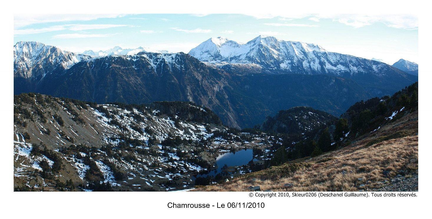 Panoramique 7 : Lac Achard et Taillefer
