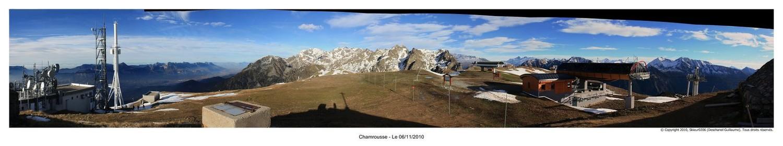 Panoramique 10 : Depuis la Croix de Chamrousse, vue sur Belledonne
