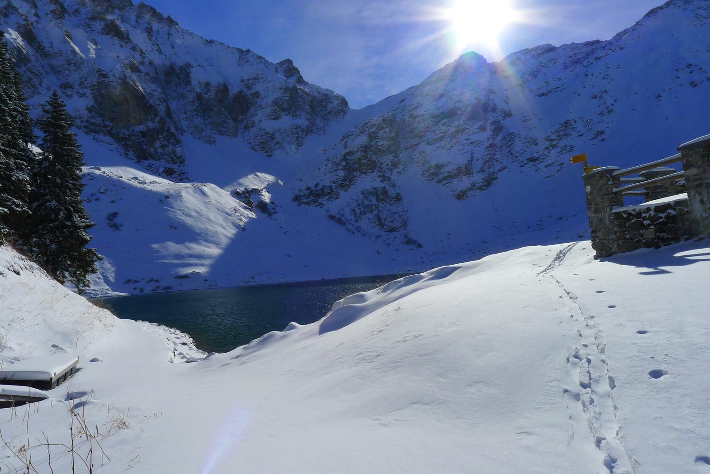 Le lac Lioson pas encore gelé
