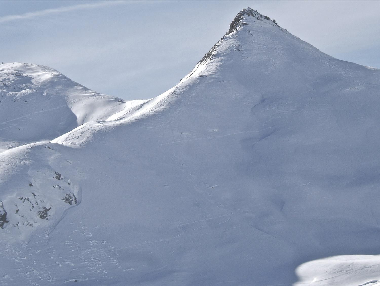 Ma descente de Colombart vue de l'Alpe