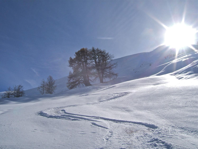 Descente de l'Alpe