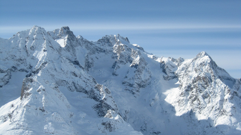 Pic Gaspard et la Meije depuis le point 2861m