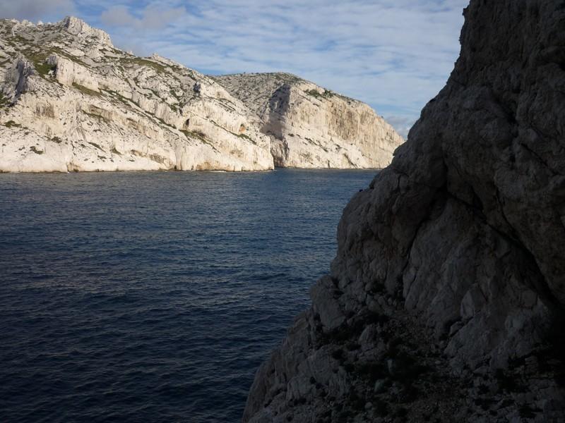 au dessus du 4c, variante à gauche de la grotte