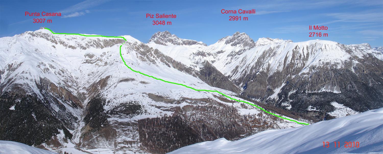Salita alla Punta Casana dalla Val Federia.