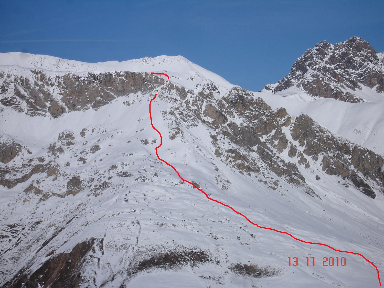 Passaggio per salire alla Punta Casana 3007 m.