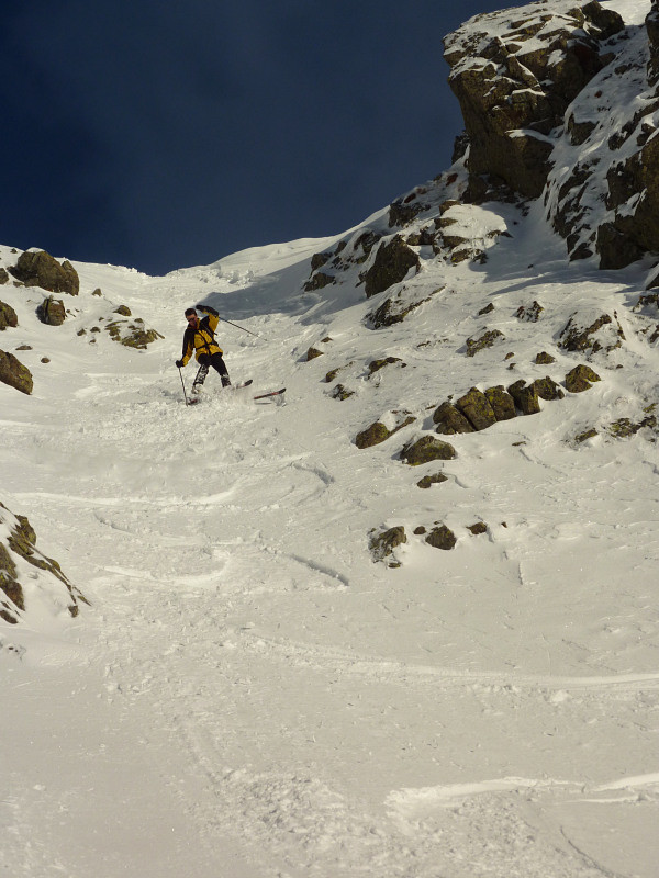 Haut du couloir W en mode alpin