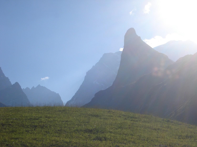 Aiguille de la Vanoise, profil de la face N