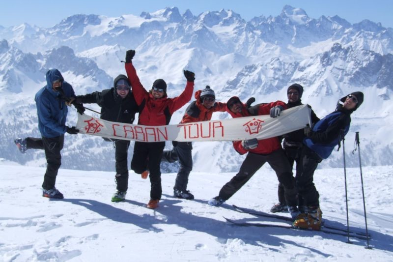 J4: Tout le groupe au sommet du Pic du Lac Blanc (2980m)
