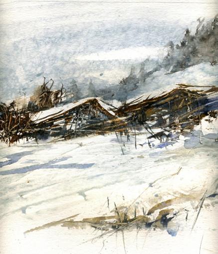 chalets du Tyrol sous la neige