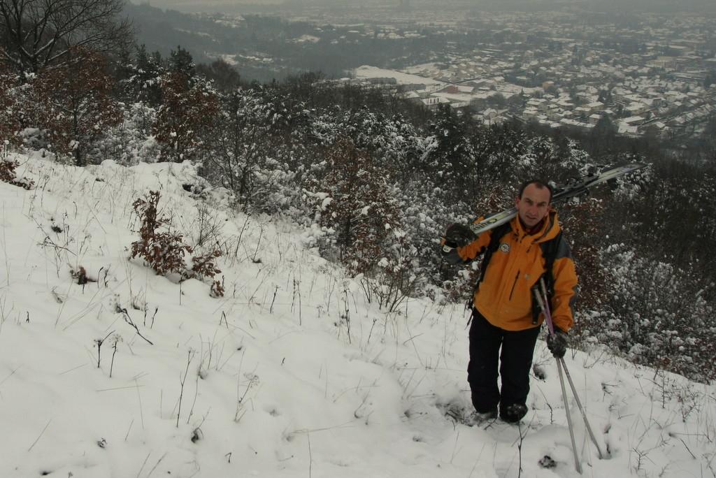 Vers le sommet, avec Toul dans le fond