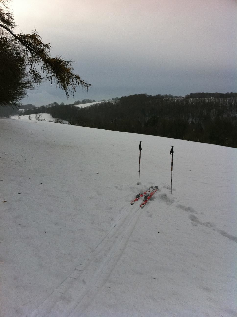 Skiing in the North Downs 2
