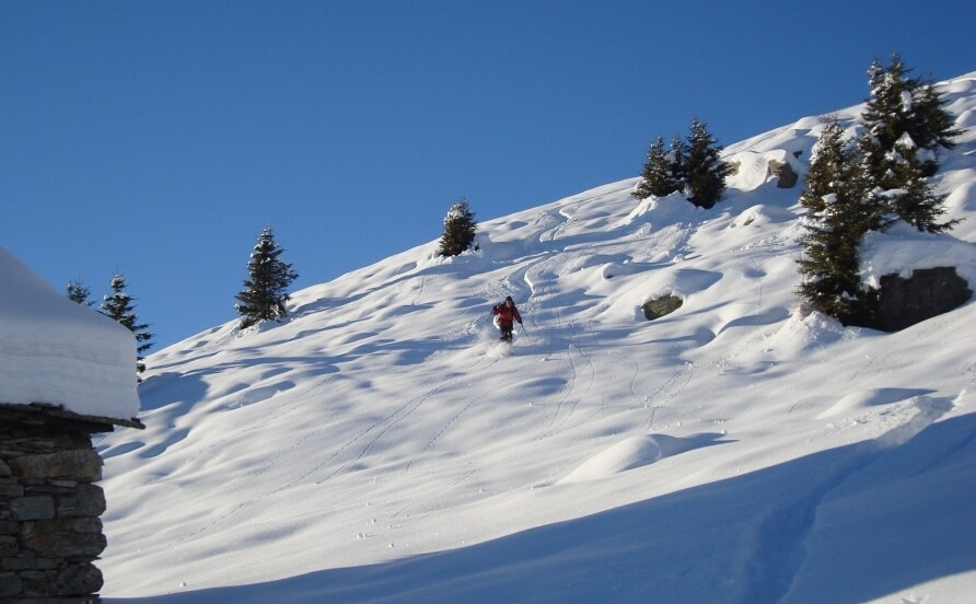 Cima di Piancabella. In discesa poco sopra il nrif Alpe di Prou