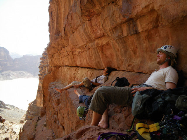 at rest high above Wadi Rum