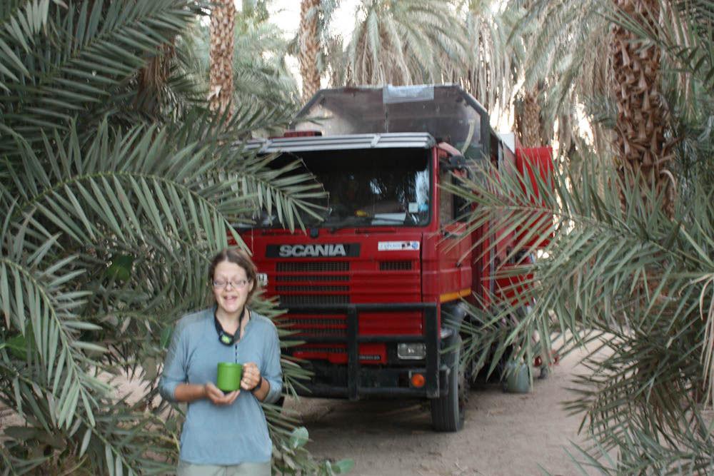 Le camion rouge en Egypte