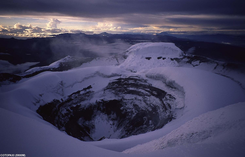 Cratère sommital du Cotopaxi