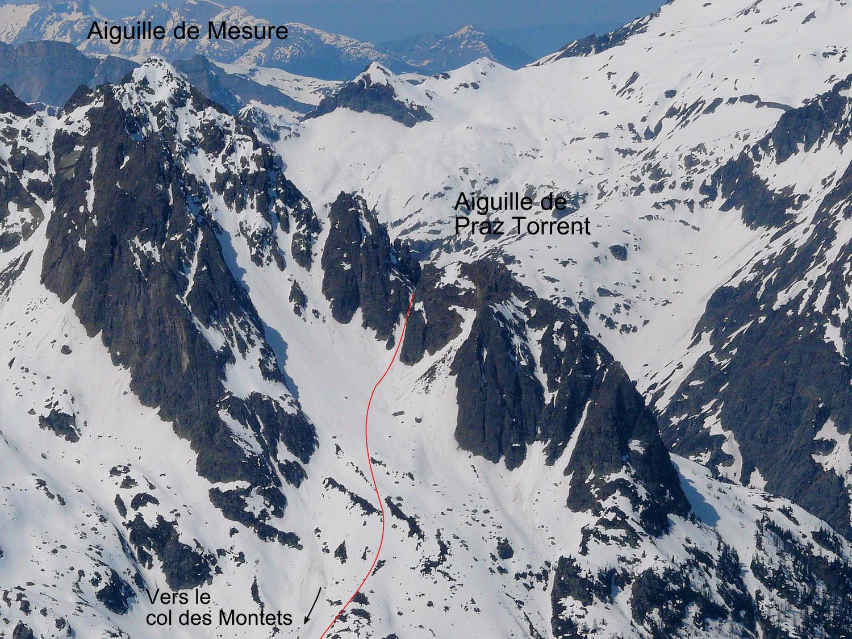 Montée à la Brèche de Praz Torrent depuis le col des Montets