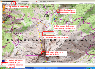HELP : Guidebook - map tool - Camptocamp.org Clic Maps on