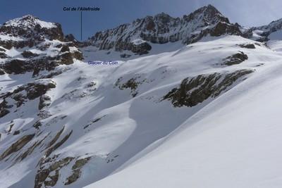 Col de l'Ailefroide par le glacier du Coin