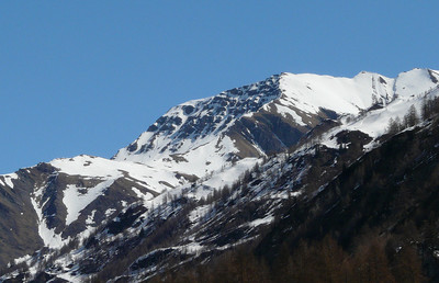 Le mont Chéarfière depuis Planpincieux (Val Ferret)