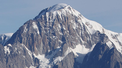 Mont Blanc 4807m, S Face from the Testa del Rutor 3486m
