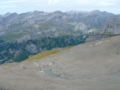 Le lac du Cheval Blanc en bordure supérieur du Fer à Cheval