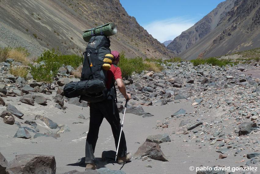 Aproximación por el Valle del Tupungato