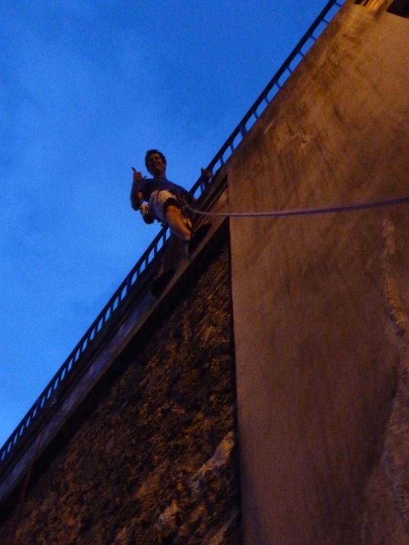 Arnaud est fier d'avoir enfin sorti le Mur de la Bidassoa