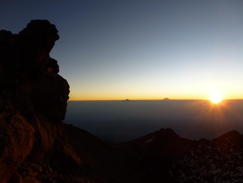 La Malinche et le Pico de Orizaba au loin