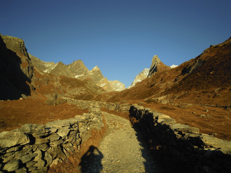 Coucher de soleil durant la montée au refuge.