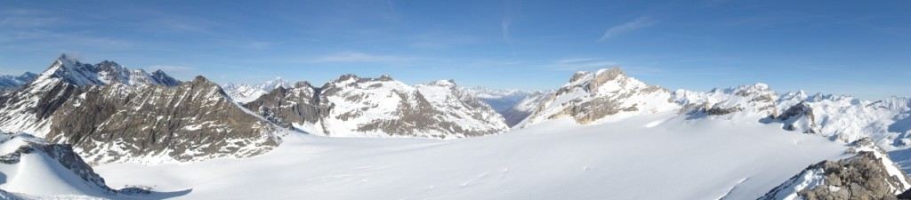 Panorama: Grande Sassière, Val de Rhêmes, Grand Paradis