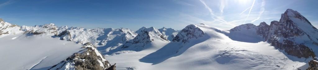 Panorama: Grand Paradis, Col de Rhêmes Calabre, La Tsanteleina