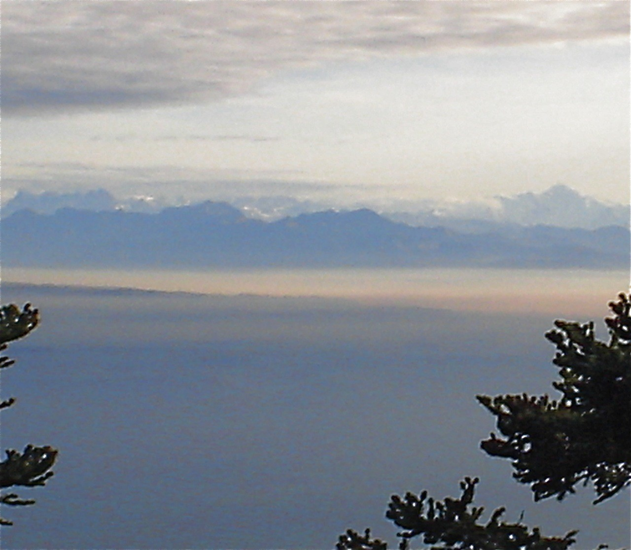 Du Petit coin de paradis, vue sur les Alpes