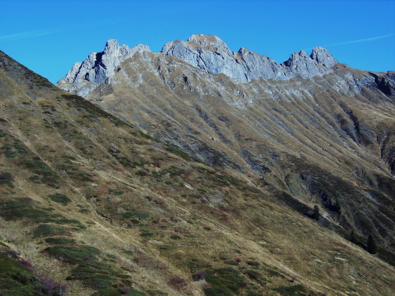 Les aretes du Roc d'Enfer vues du Foron d'en haut