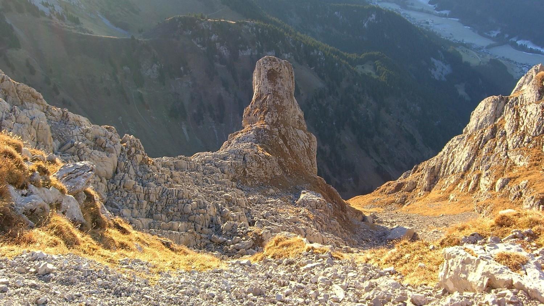 Cornettes de Bise - stalagmite