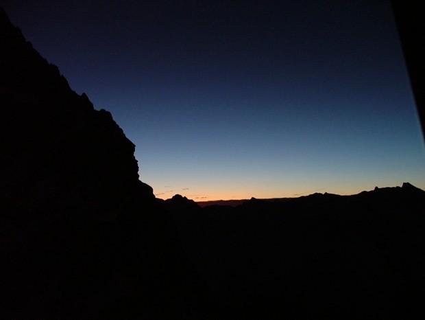 lever de soleil depuis le bivouac Gervasutti