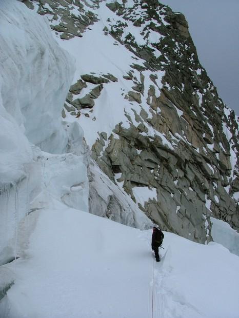 glacier de Fébrouze, Romaric en admiration